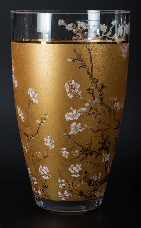 vincent van gogh glass vase almond tree gold