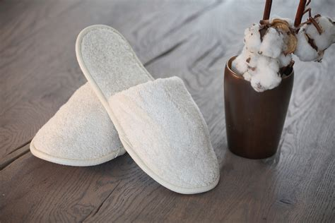 Cream and Co   Natural Towelling Slippers