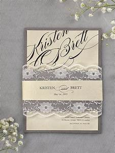 custom listing 90 grey and ivory wedding invitation 81 With 90s wedding invitations