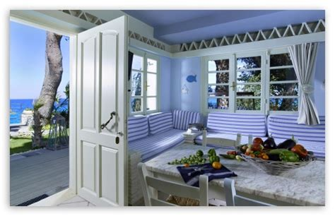 seaside house interior design  hd desktop wallpaper