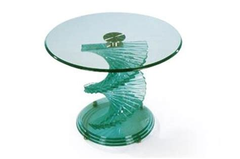 New Home Furnishers » Spiral Glass Coffee Table
