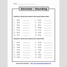 Rounding Off Decimals Worksheet Worksheet Mogenk Paper Works