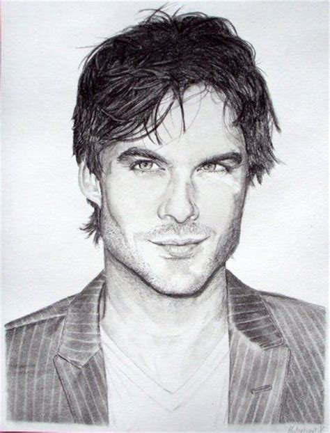 How to draw nayl horan's portrait from one direction pop group with a pencil step by step. Ian Somerhalder draw | Ian somerhalder, Nina dobrev, Human ...