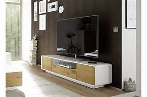 Meuble Tv Design Bois : meuble tv design hifi bois massif et laque matte blanche cbc meubles ~ Melissatoandfro.com Idées de Décoration