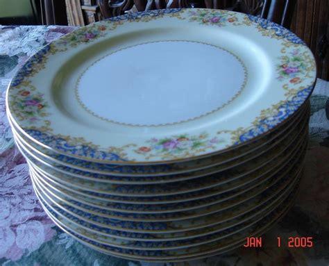 vintage early  noritake gold rimmed dinner plates sold
