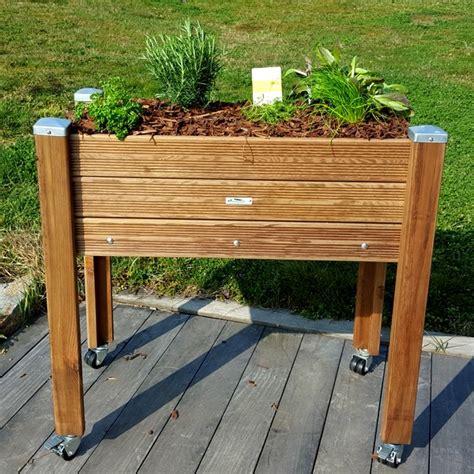 mini cuisine en bois bacs à herbes aromatiques jardinage de proximité à hauteur papycool