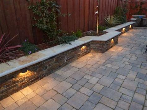 sitting wall  voltage lights backyard fals front
