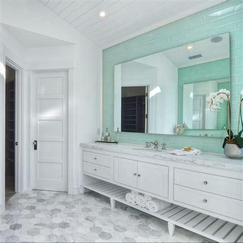 coastal style floor ls hex floors coastal bathroom with marble hex floors and