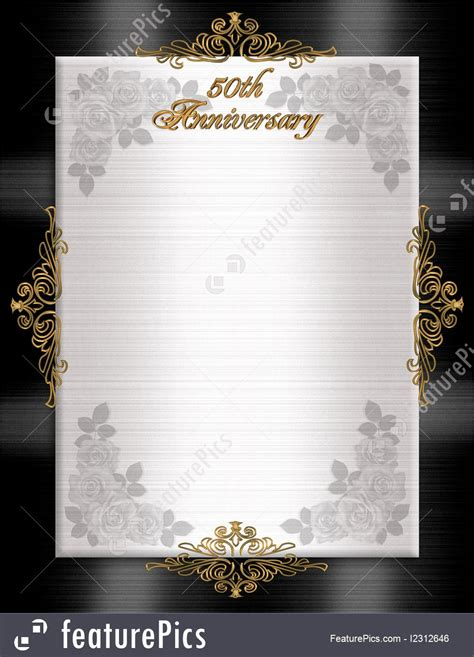 templates  anniversary formal invitation stock