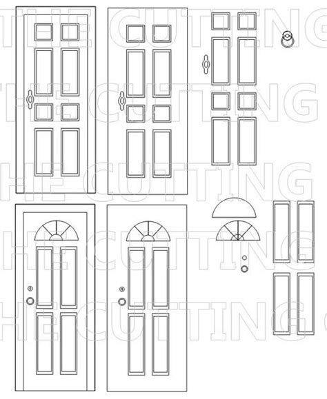 door template cards the o jays and cutting files on
