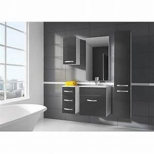 ensemble de salle de bain koral nature 55cm meuble salle With salle de bain gris anthracite