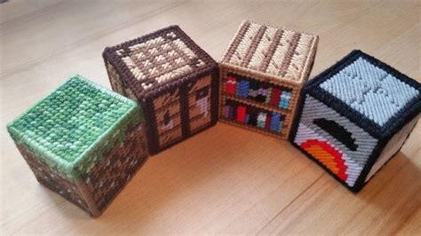 minecraft  plastic canvas starter set  plushie toy needlework  cut