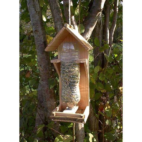 cuisine pin massif mangeoire oiseaux bois naturel 1 5l bois poterie