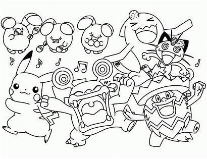 Pokemon Coloring Coloriage Pages Les Tout Printable