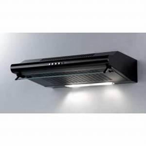 Hotte à Recyclage : hotte 60 cm noir recyclage dans hotte de cuisine achetez ~ Edinachiropracticcenter.com Idées de Décoration