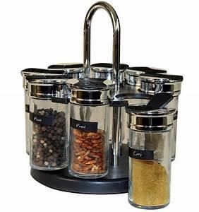 Carrousel à épices : carrousel pices et herbes avec 8 pots en verre ~ Teatrodelosmanantiales.com Idées de Décoration