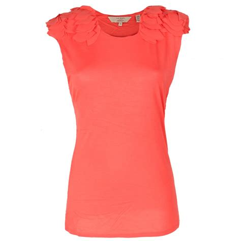 coral blouses and tops buy ted baker eysis top in coral at hurleys
