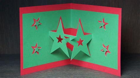 basteln zu weihnachten pop  karten selber basteln pop