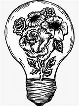 Lightbulb Flower Light Bulb Meagan Hein Pencil Sticker Line Drawings Drawing Tattoos Coloring Grenade Pages sketch template