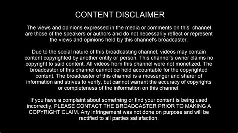 Content Disclaimer YouTube