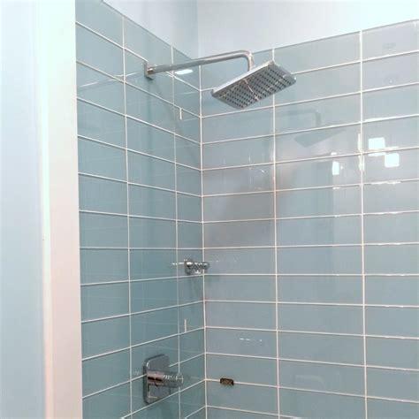 lush glass subway tile vapor    bathrooms