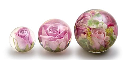 beautiful pink roses  mixed flower paperweights