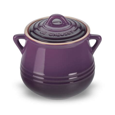 le creuset stoneware heritage mini bean pot 20 ounce cassis cutlery and more