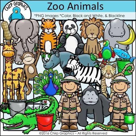 cutest zoo clipart  zoo animals clip art art set