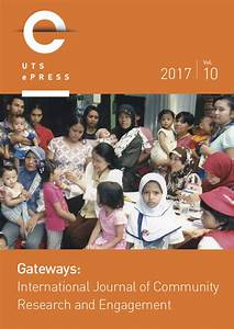 Gateways: International Journal of Community Research and ...