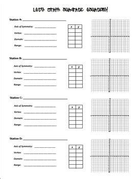 Graphing Quadratic Equations Worksheet Answers Rcnschool