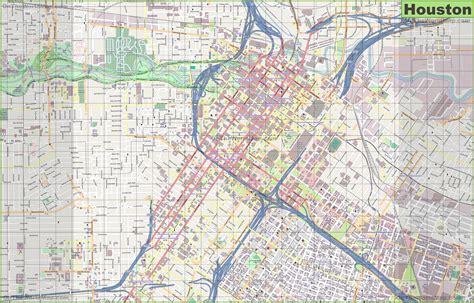 city  houston map compressportnederland