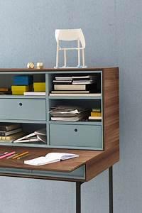 Sekretär Modern Design : moderner sekret r nussbaum aus eiche lackiertes holz ~ Watch28wear.com Haus und Dekorationen
