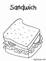 Coloring Sandwich Menu Lunch Pages Colouring Template Colorings Getdrawings Printable Getcolorings Sketch sketch template