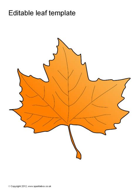 editable leaf templates sb sparklebox