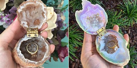 geode ring boxes unique engagement ring boxes