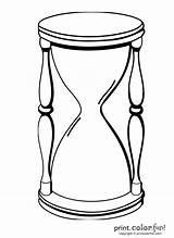 Hourglass Coloring Pages Outline Vector Sand Animated Clip Clipart Print Designs Printcolorfun Timepiece Any sketch template