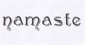 Namaste, Word Stencil, Namaste Stencil, Yoga Stencil ...