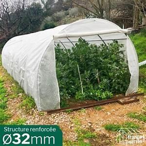 Serre Tunnel De Jardin : serre tunnel de jardin 24m b che renforcee structure 32mm ~ Melissatoandfro.com Idées de Décoration