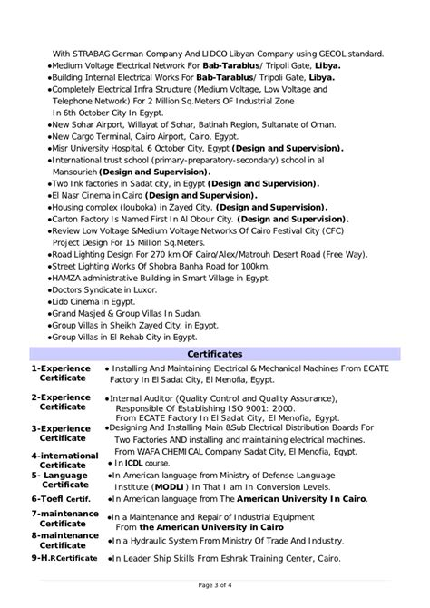 Industrial Electrical Maintenance Engineer Resume by Design Electrical Engineer Cv