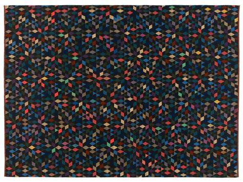 Tappeto rettangolare a motivi geometrici DIAMOND BLACK