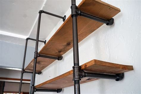 industrial pipe shelving lovely imperfection diy pipe shelf lovely imperfection