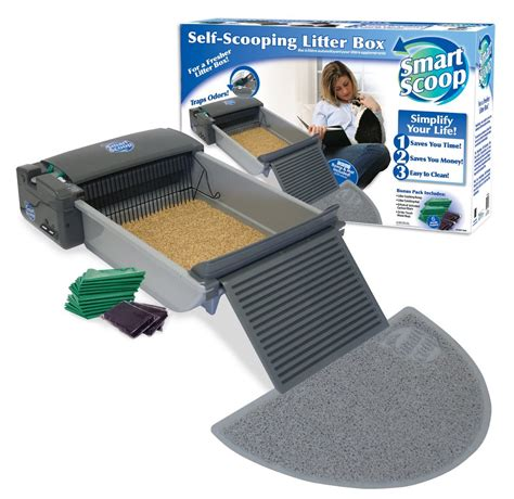 self scooping litter box smartscoop self scooping litter box review