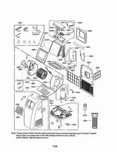 Lg Lp1015wnr  00 Room Air Conditioner Parts