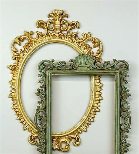 upcycle plastic ornate frames  americana decor chalky