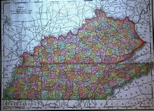 Kentucky Tennessee County Map