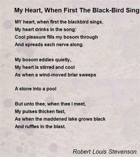 heart    black bird sings poem  robert