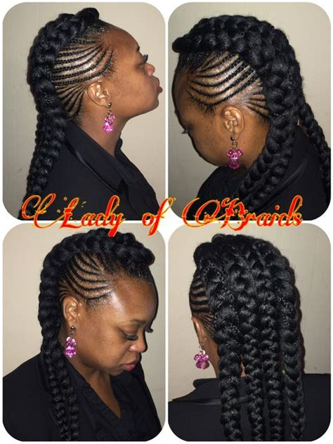 cardi  inspired style protective hairstyle ghana feeding