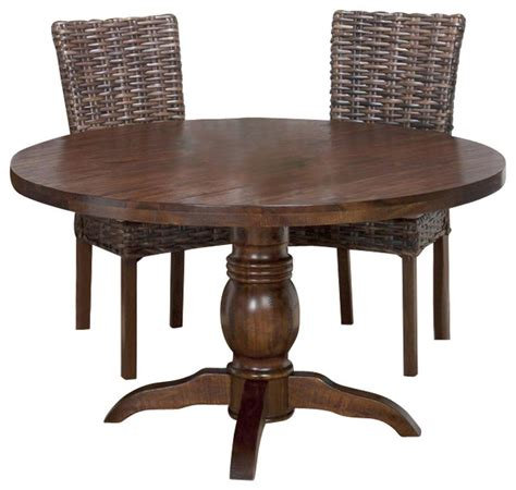 52 round dining table jofran 733 52 urban lodge round pedestal dining table in