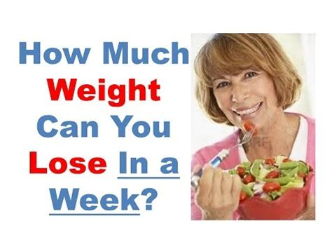How Much Weight Can You Lose In A Week, How To Lose Weight
