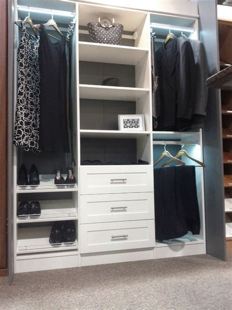 Closets Calgary by White Melamine Reach In Closet Traditional Closet